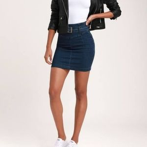 Adorable free people denim skirt